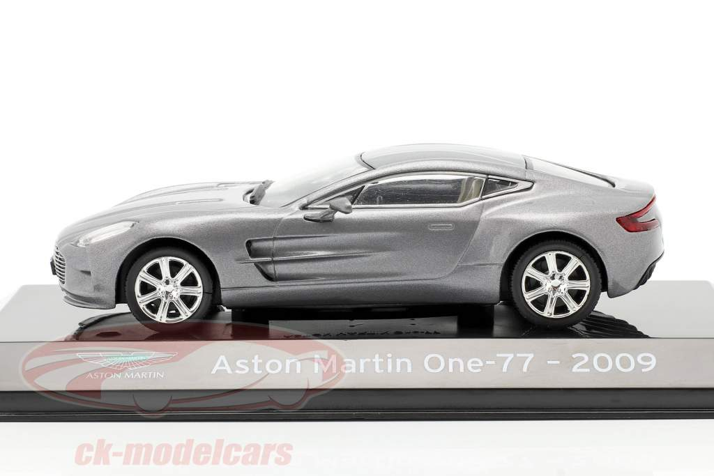 Aston Martin One-77 year 2009 silver grey metallic 1:43 Altaya