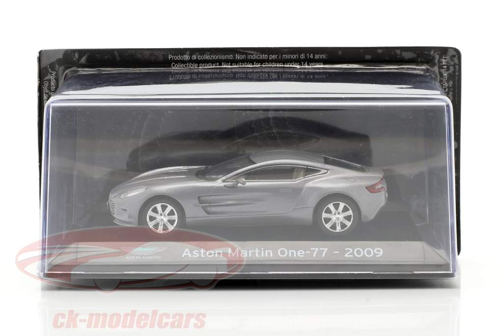 Aston Martin One-77 Année de construction 2009 Gris argent métallique 1:43 Altaya