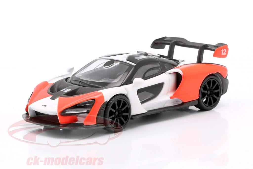 McLaren Senna LHD #12 2018 rojo / Blanco / negro 1:64 TrueScale