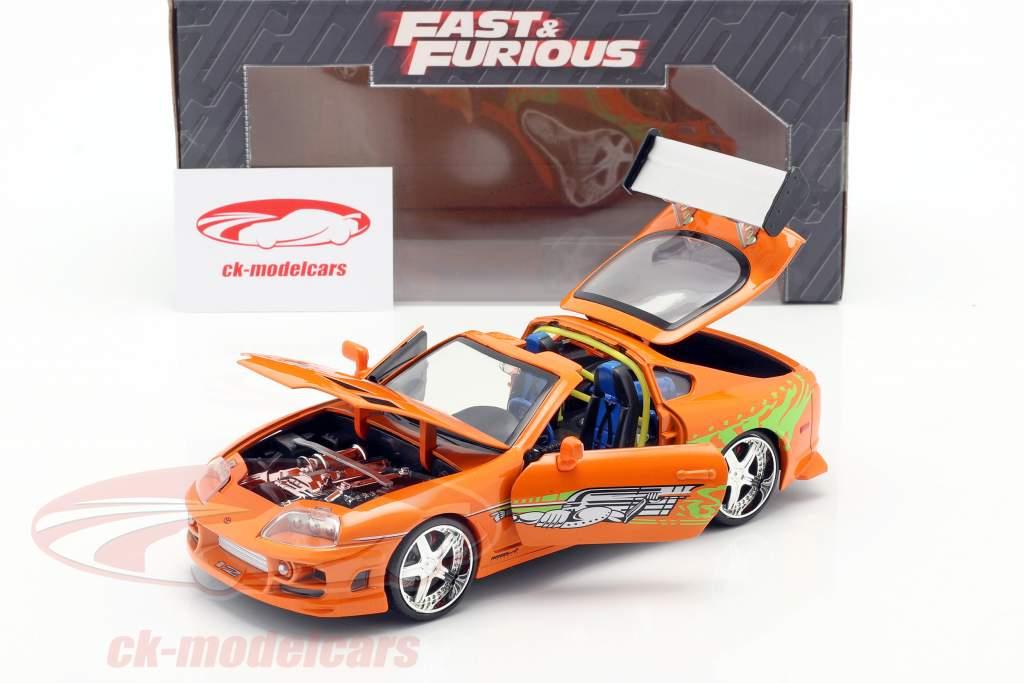 Brian's Toyota Supra Film Fast & Furious 7 (2015) Orange 1:24 Jada Toys