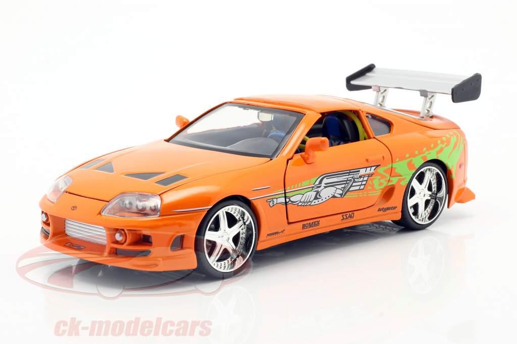 Brian's Toyota Supra Movie Fast & Furious 7 (2015) orange 1:24 Jada Toys