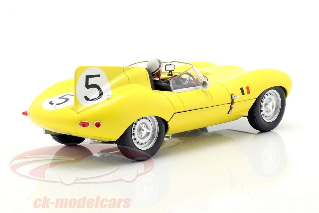 Set: Jaguar D-Type #5 4th 24h LeMans 1956 mit Fahrerfigur 1:18 CMR