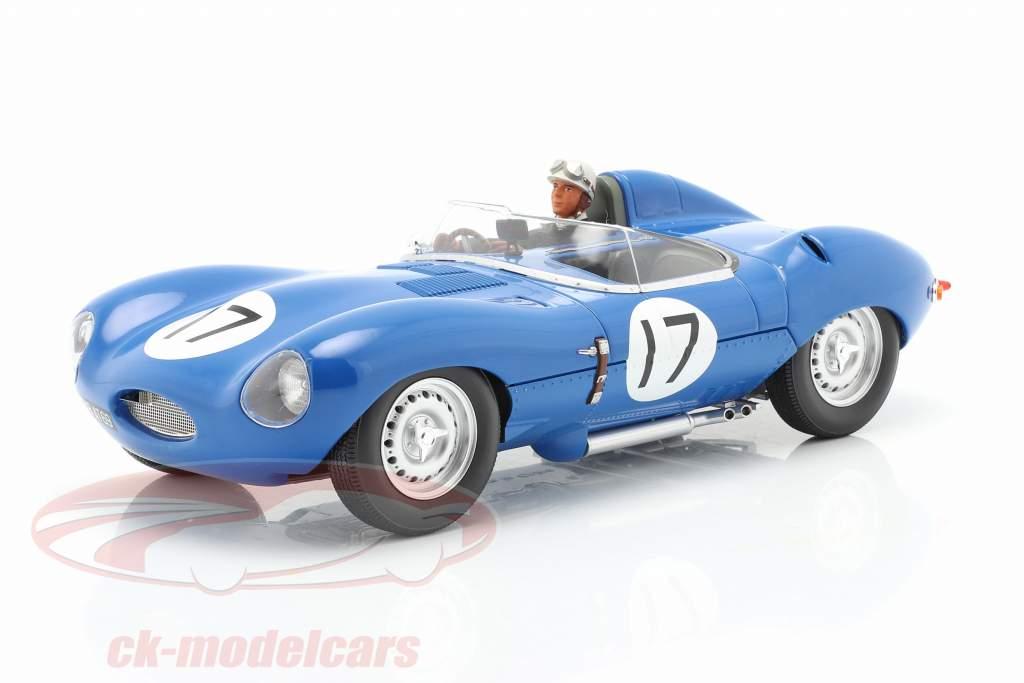 Set: Jaguar D-Type #17 3 ° 24h LeMans 1957 Con Figura del conducente 1:18 CMR