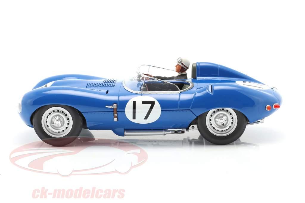 Set: Jaguar D-Type #17 3rd 24h LeMans 1957 mit Fahrerfigur 1:18 CMR
