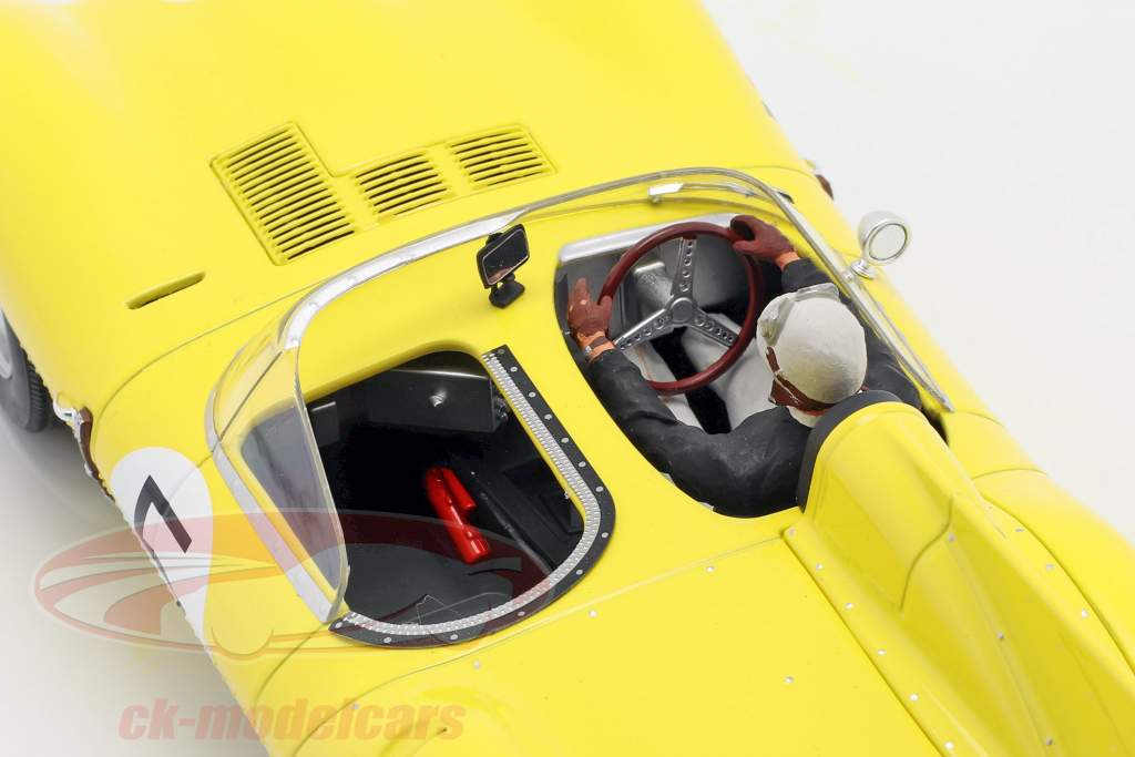Set: Jaguar D-Type #5 4 ° 24h LeMans 1956 Con Figura del conducente 1:18 CMR