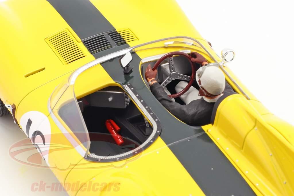 Set: Jaguar D-Type #16 4e 24h LeMans 1957 Avec Figure de conducteur 1:18 CMR