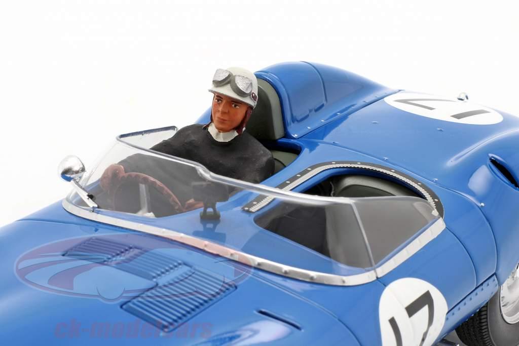 Set: Jaguar D-Type #17 3e 24h LeMans 1957 Avec Figure de conducteur 1:18 CMR