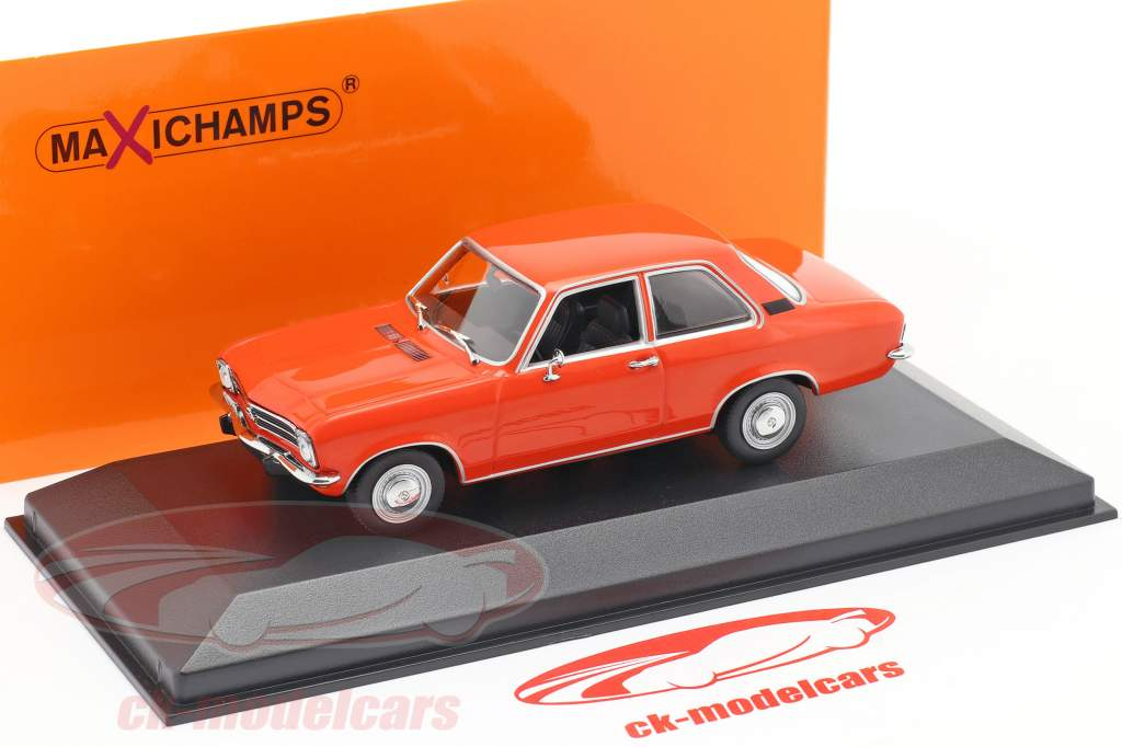 Opel Ascona A Baujahr 1970 rot 1:43 Minichamps