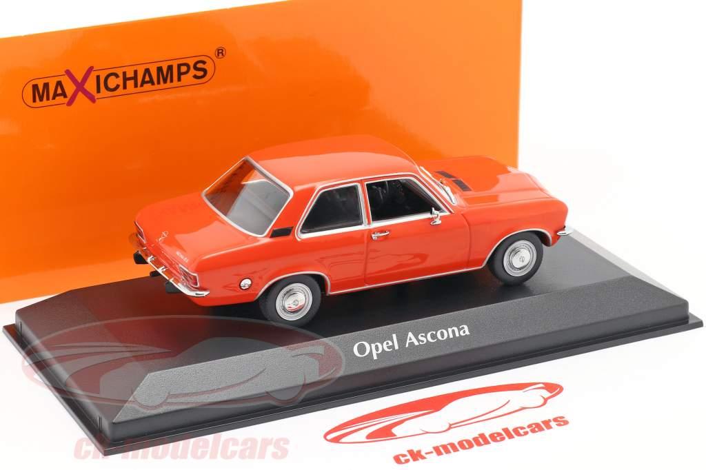 Opel Ascona A Année de construction 1970 rouge 1:43 Minichamps