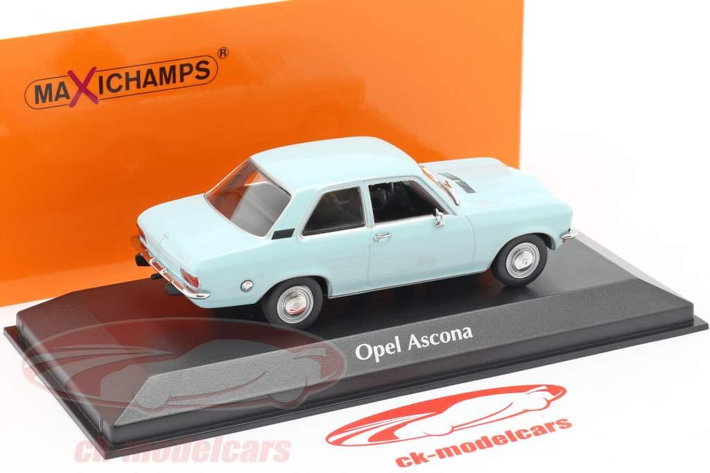 Opel Ascona A Bouwjaar 1970 licht blauw 1:43 Minichamps