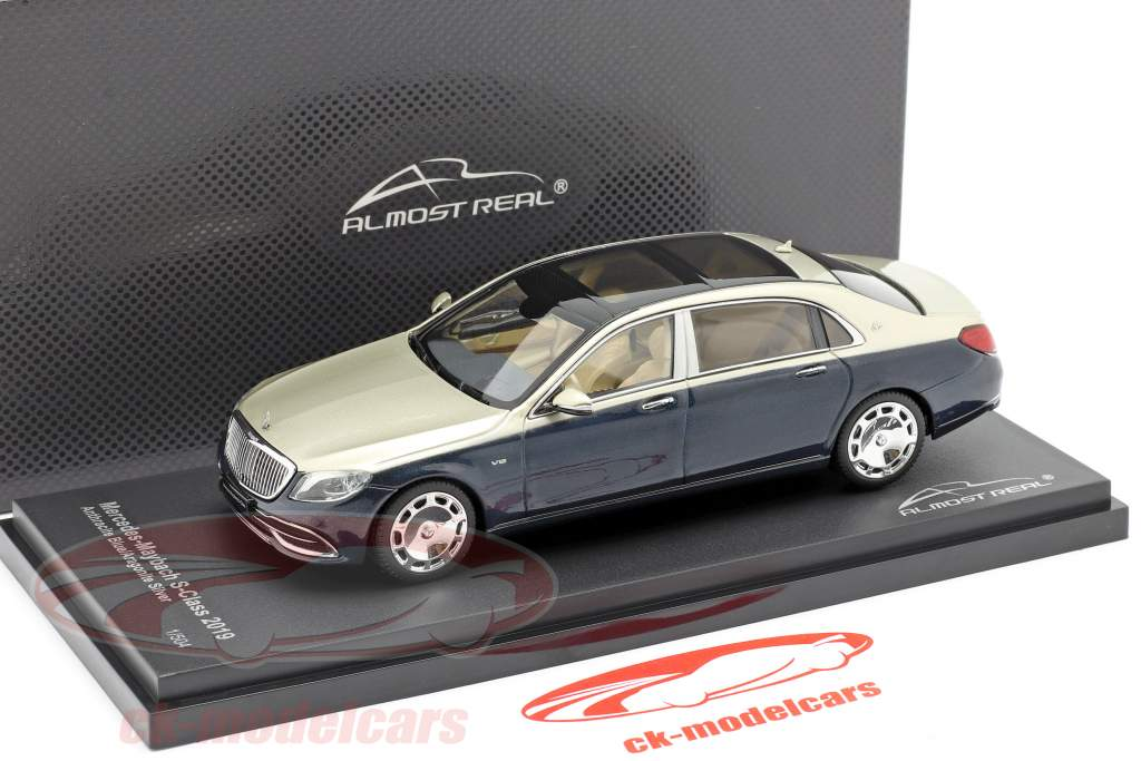 Mercedes-Maybach S class 2019 anthracite blue / aragonite silver 1:43 Almost Real
