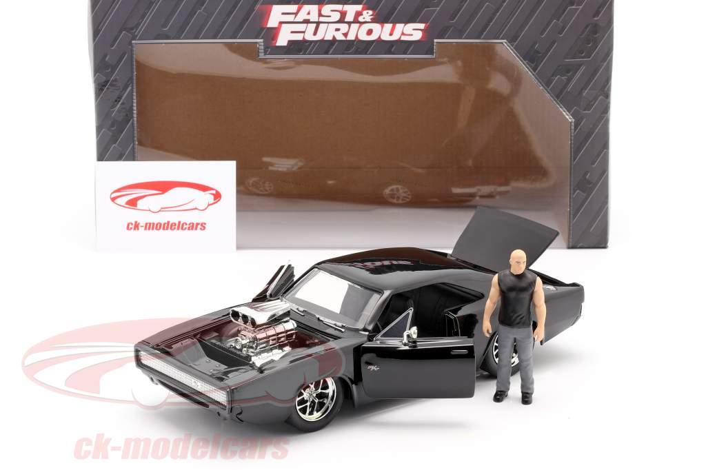 Dom's Dodge Charger R/T 1970 Film Fast & Furious (2001) mit Figur 1:24 Jada Toys