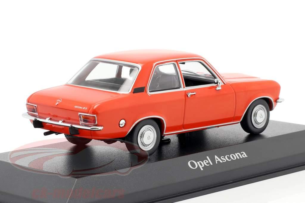 Opel Ascona A Byggeår 1970 rød 1:43 Minichamps