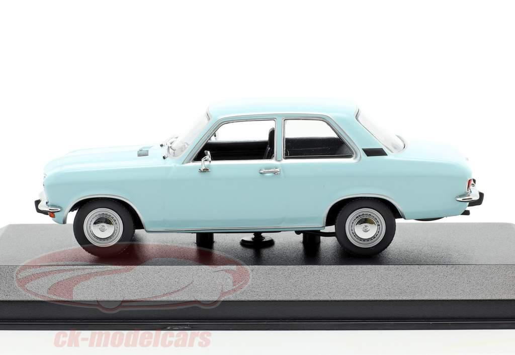 Opel Ascona A Ano de construção 1970 luz azul 1:43 Minichamps