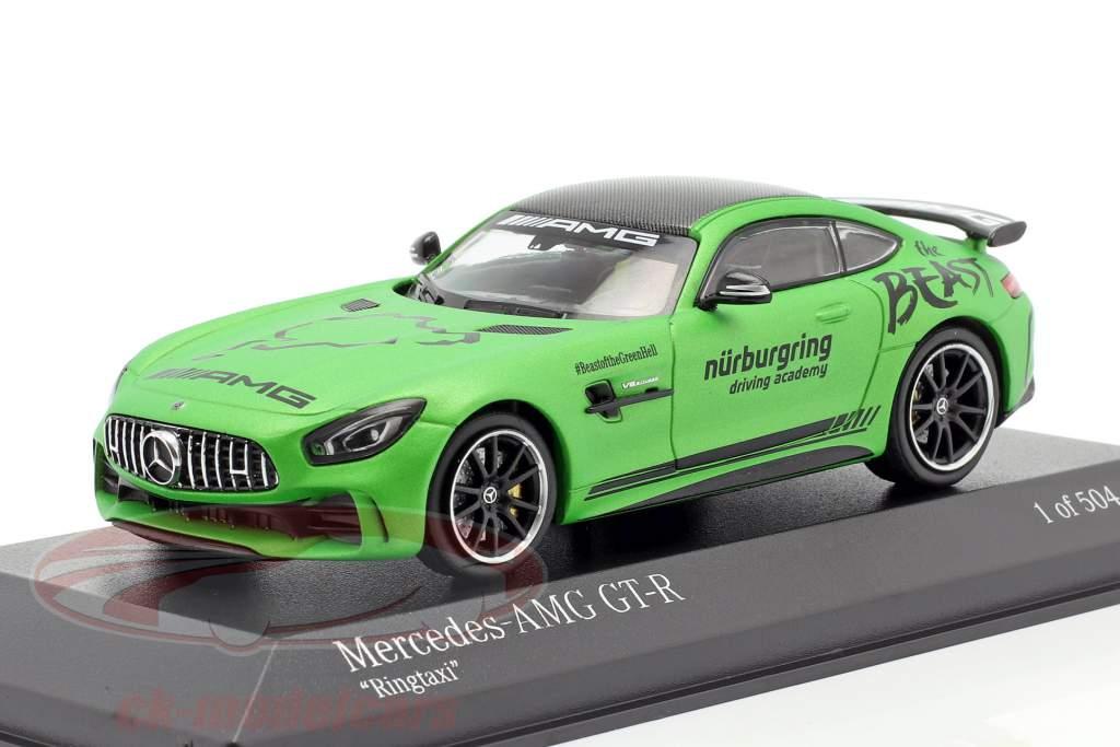 Mercedes-Benz AMG GT-R Ringtaxi The Beast 2018 grøn metallisk 1:43 Minichamps