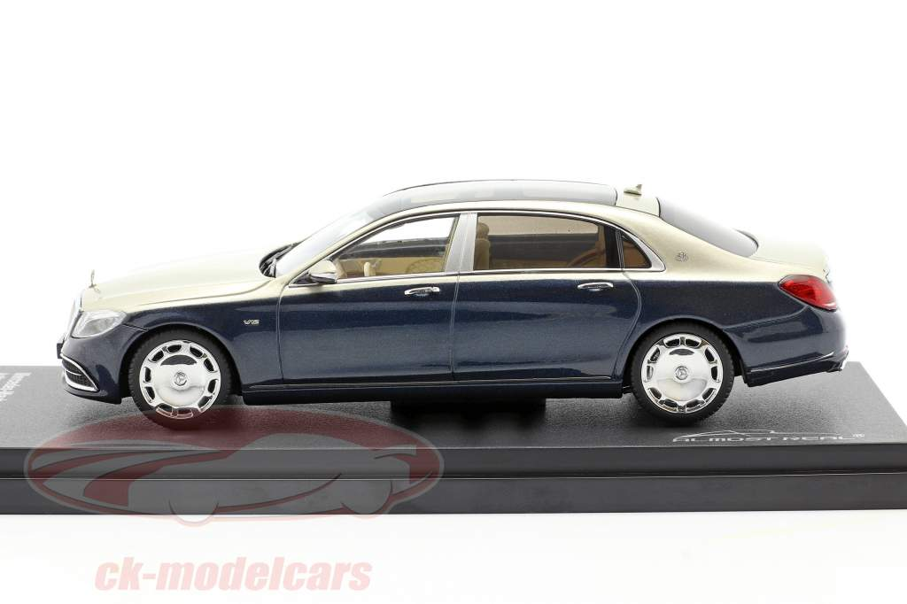 Mercedes-Maybach Classe S. 2019 antracite blu / aragonite argento 1:43 Almost Real