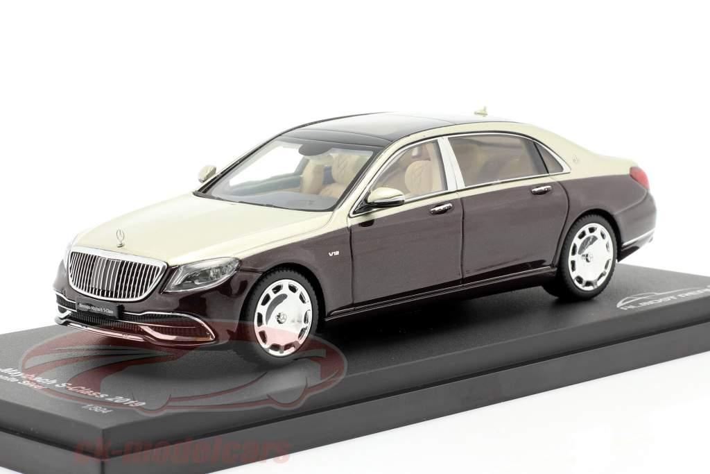 Mercedes-Maybach S klasse 2019 rubin sort / aragonit sølv 1:43 Almost Real