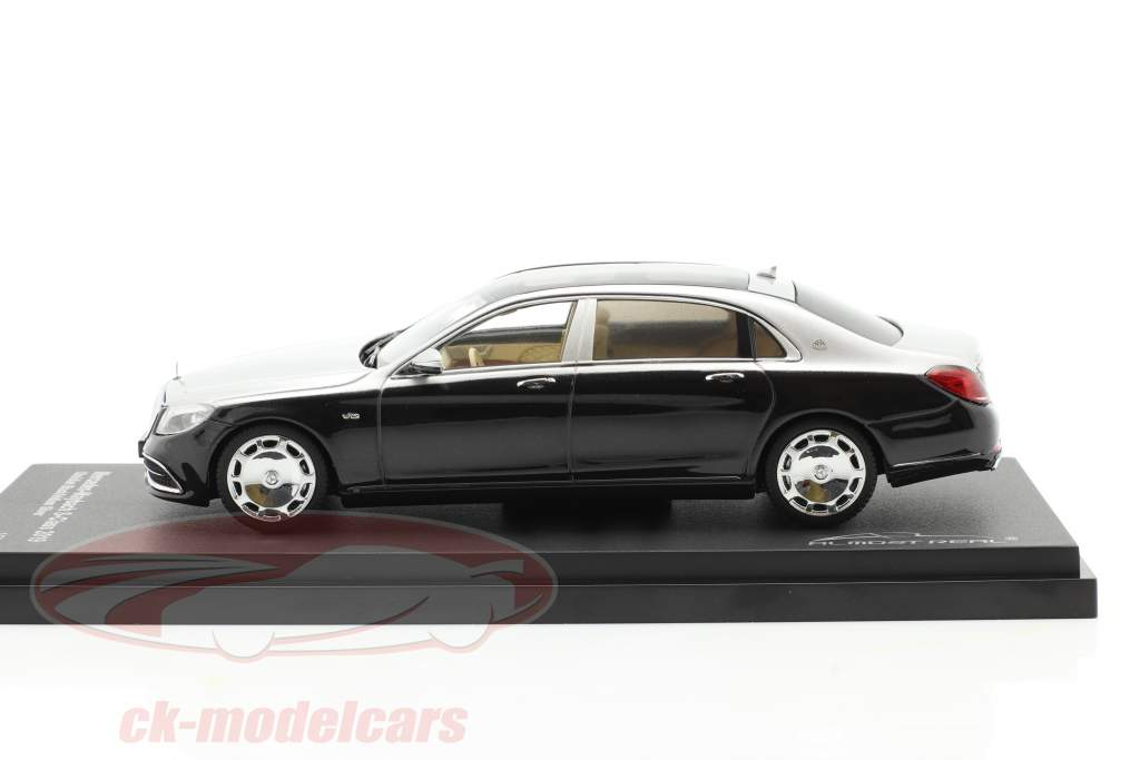 Mercedes-Maybach S-Klasse 2019 obsidian schwarz / iridium silber 1:43 Almost Real
