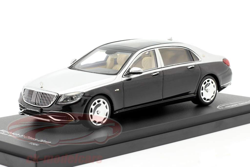 Mercedes-Maybach Classe S. 2019 obsidian nero / iridium argento 1:43 Almost Real