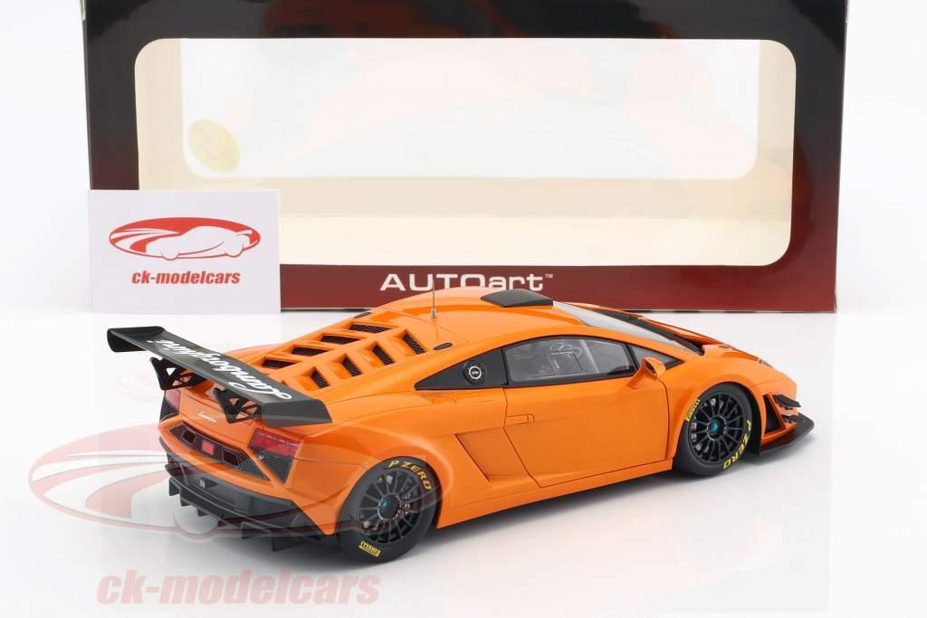 Lamborghini Gallardo GT3 FL2 Année de construction 2013 Orange métallique 1:18 AUTOart