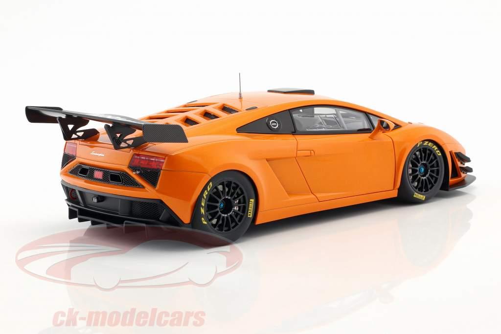 Lamborghini Gallardo GT3 FL2 Byggeår 2013 orange metallisk 1:18 AUTOart