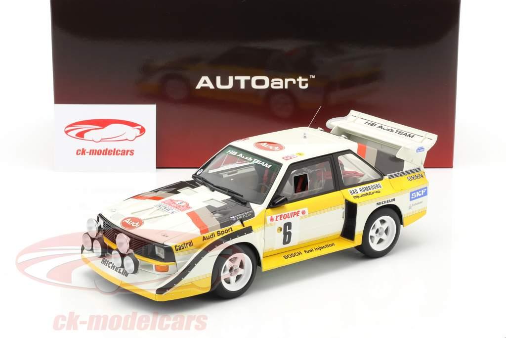 Audi Sport Quattro S1 #6 Rally Monte Carlo 1986 Mikkola, Hertz 1:18 AUTOart