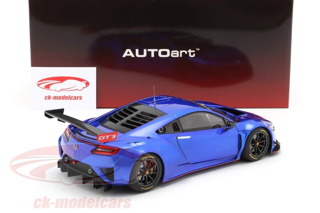 Honda NSX GT3 Anno di costruzione 2018 iper blu 1:18 AUTOart
