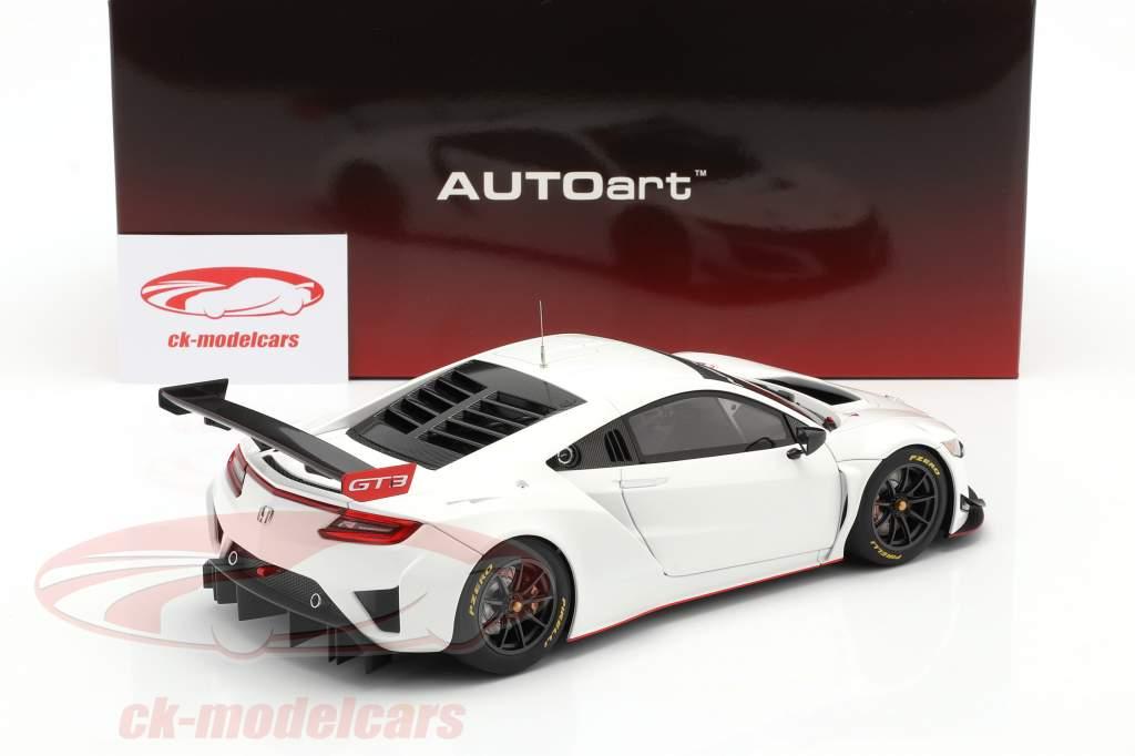 Honda NSX GT3 Byggeår 2018 hvid 1:18 AUTOart