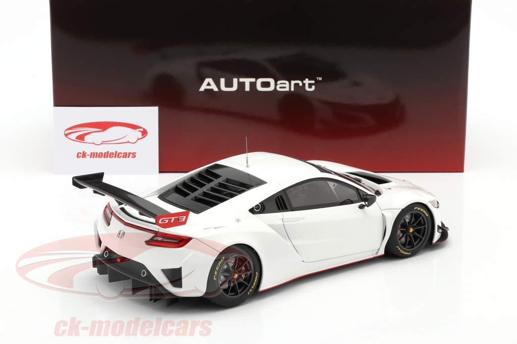 Honda NSX GT3 year 2018 white 1:18 AUTOart