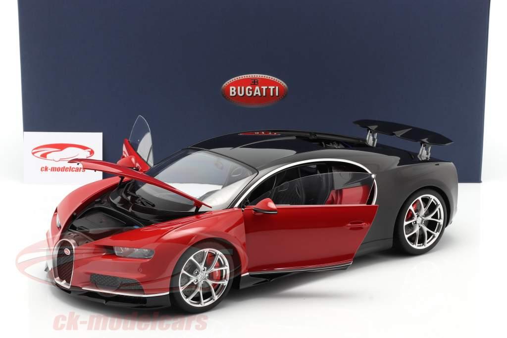 Bugatti Chiron Anno di costruzione 2017 rosso / nero 1:12 AUTOart