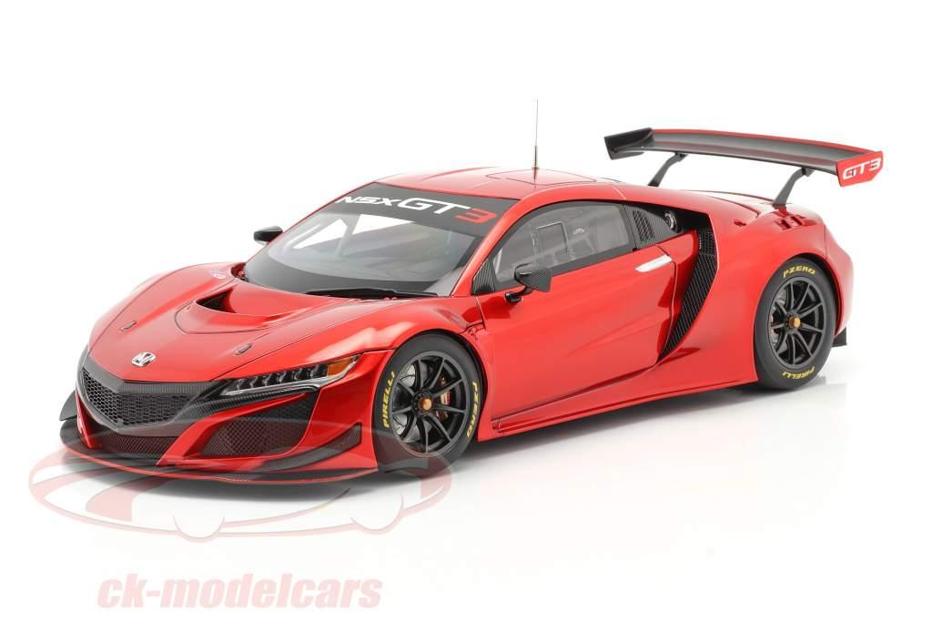 Honda NSX GT3 Bouwjaar 2018 hyper rood 1:18 AUTOart