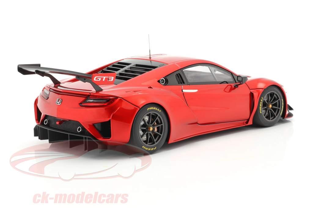 Honda NSX GT3 Byggeår 2018 hyper rød 1:18 AUTOart