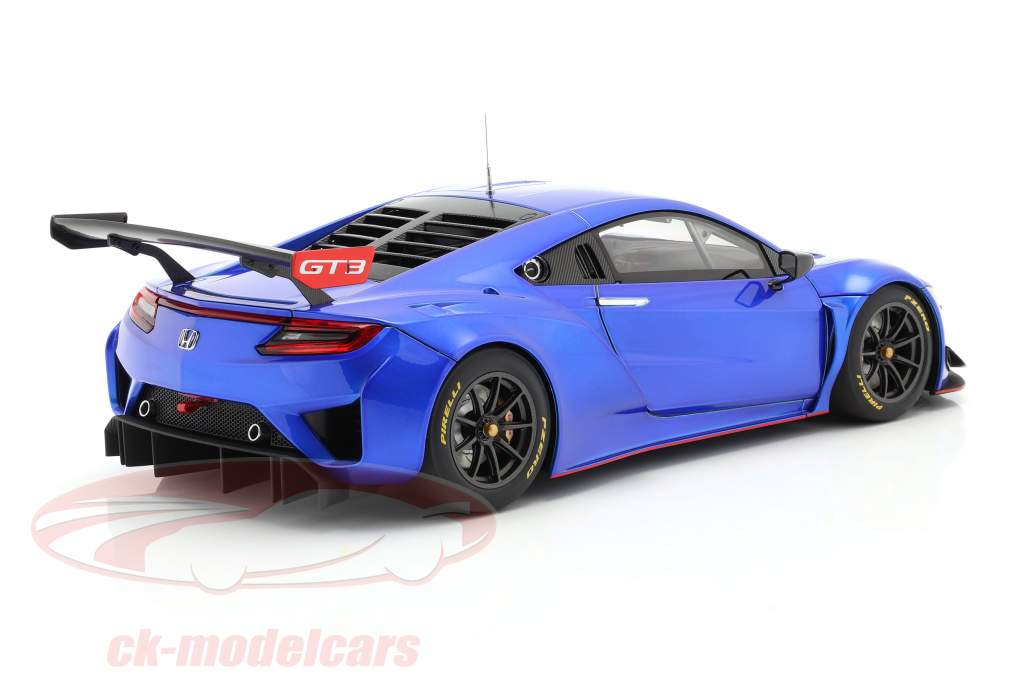 Honda NSX GT3 Année de construction 2018 hyper bleu 1:18 AUTOart
