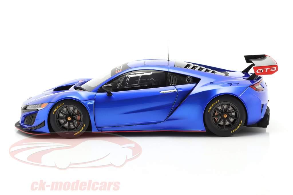 Honda NSX GT3 Ano de construção 2018 hiper azul 1:18 AUTOart