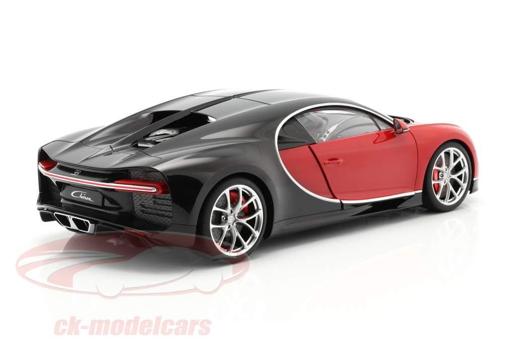 Bugatti Chiron year 2017 red / black 1:12 AUTOart