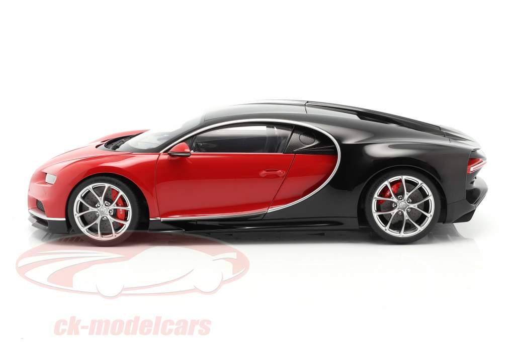 Bugatti Chiron Byggeår 2017 rød / sort 1:12 AUTOart