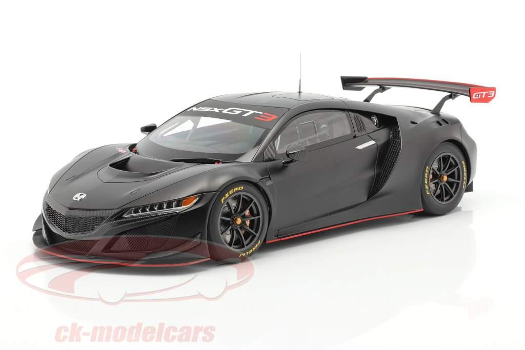 Honda NSX GT3 Año de construcción 2018 escarchado negro 1:18 AUTOart