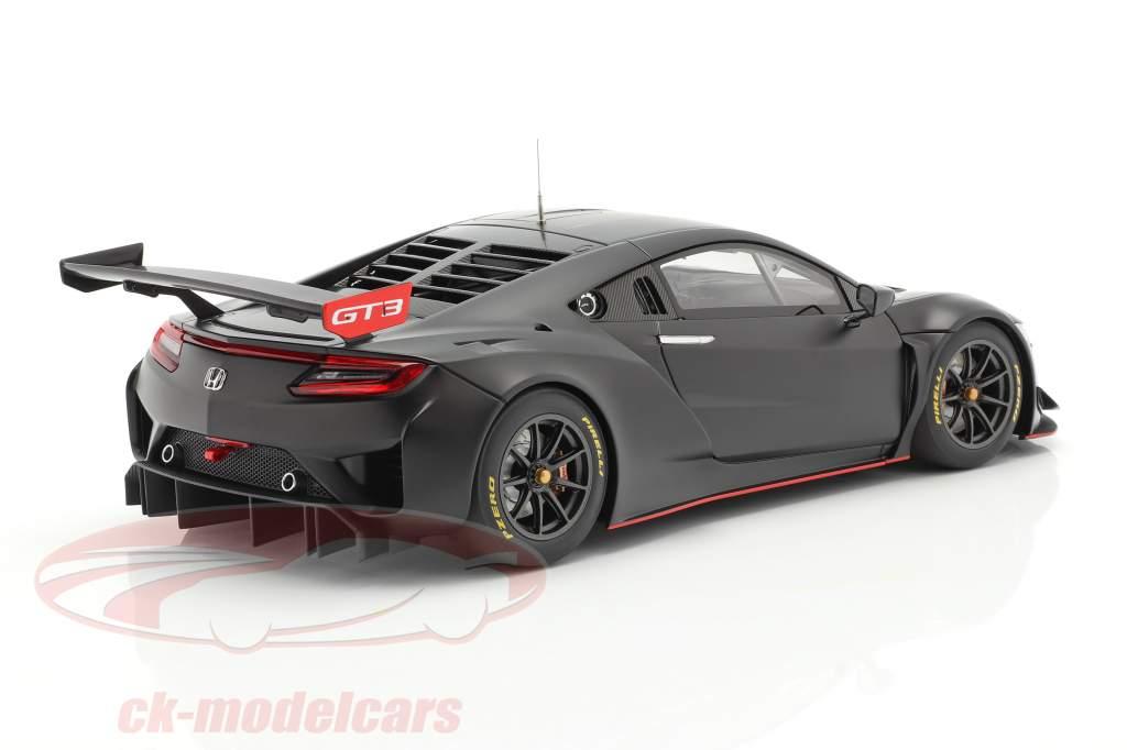 Honda NSX GT3 Byggeår 2018 matteret sort 1:18 AUTOart