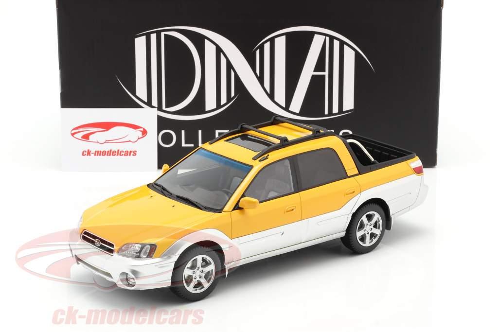 Subaru Baja Pick-Up Año de construcción 2003 amarillo / plata 1:18 DNA Collectibles