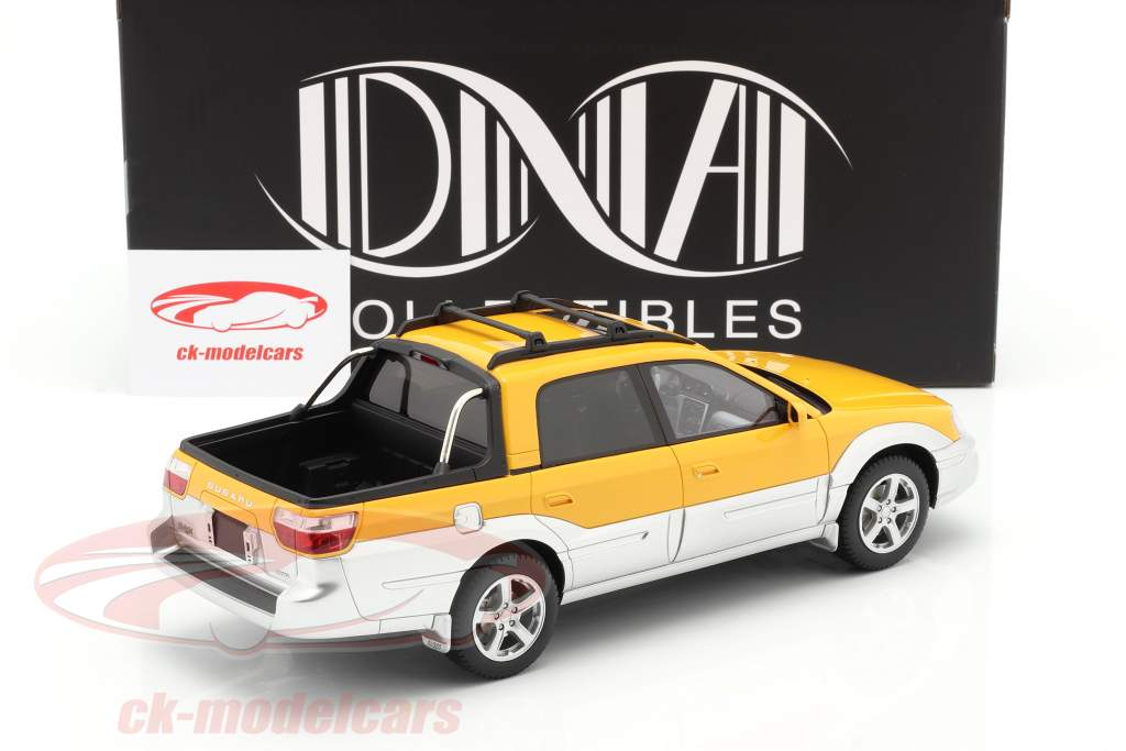Subaru Baja Pick-Up Baujahr 2003 gelb / silber 1:18 DNA Collectibles
