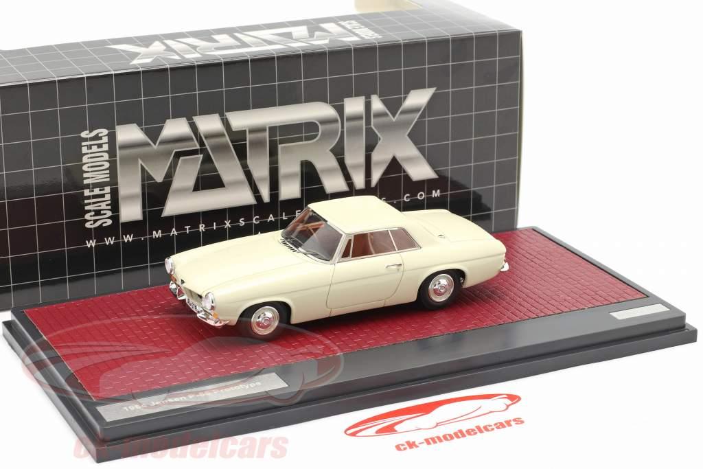 Jensen P-66 Prototype Byggeår 1964 hvid 1:43 Matrix
