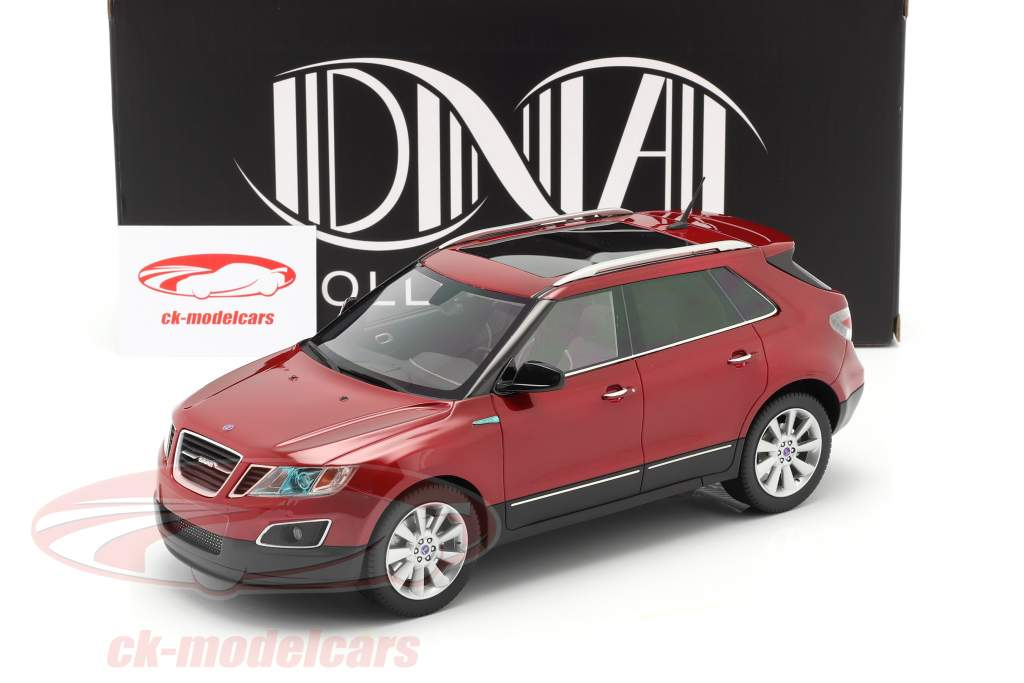 Saab 9-4X Byggeår 2011 rød 1:18 DNA Collectibles