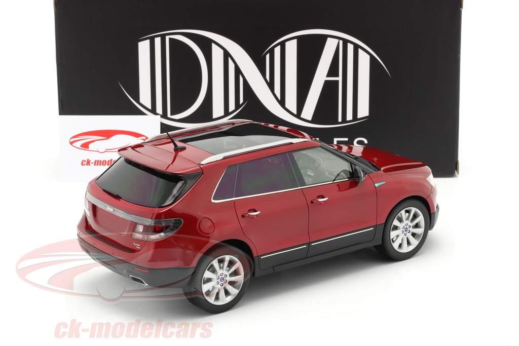 Saab 9-4X Année de construction 2011 rouge 1:18 DNA Collectibles