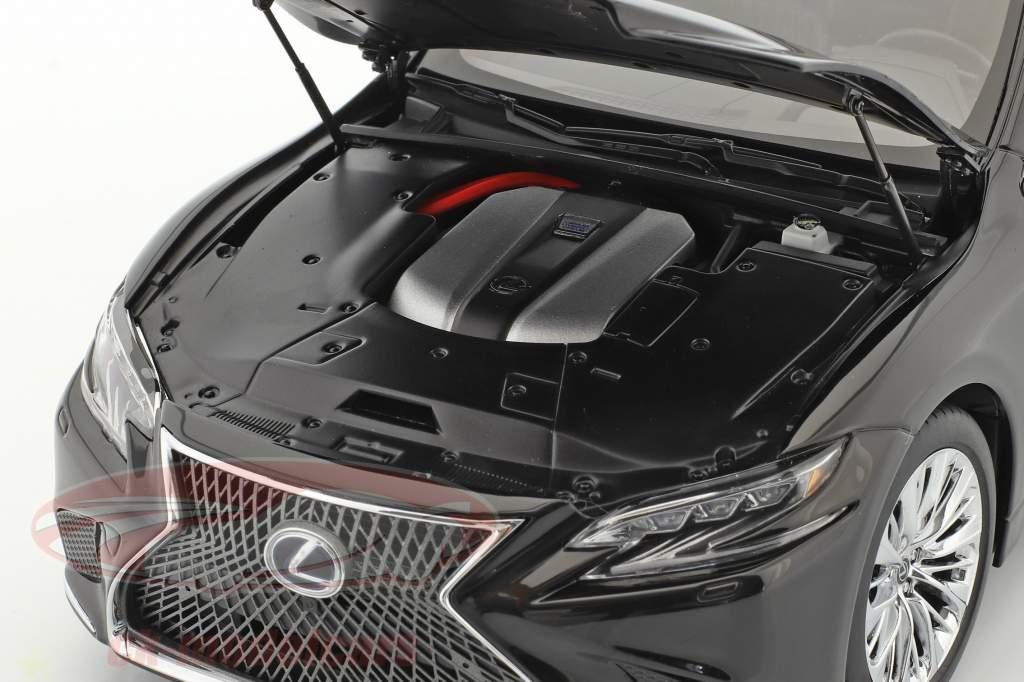 Lexus LS500h Byggeår 2018 sort 1:18 AUTOart