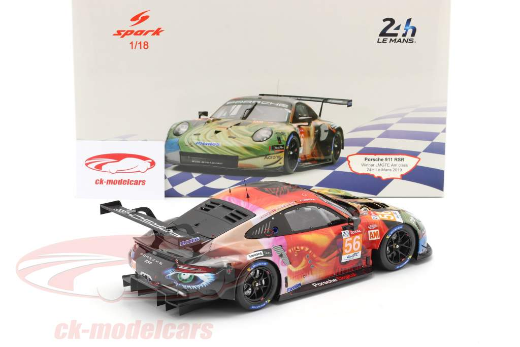 Porsche 911 RSR #56 Vincitore della classe LMGTE Am 24h LeMans 2019 Team Project 1 1:18 Spark