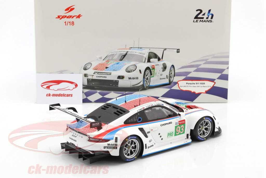 Porsche 911 RSR GTE #93 3e LMGTE Pro 24h LeMans 2019 Porsche GT Team 1:18 Spark