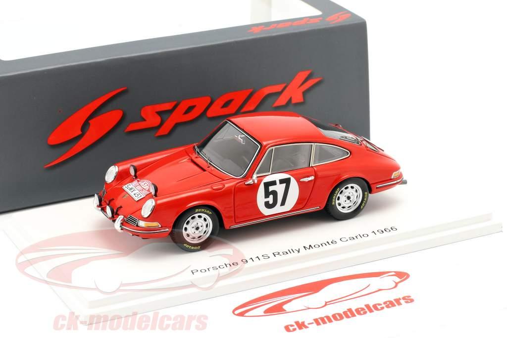 Porsche 911 S #57 Rallye Monte Carlo 1966 Buchet, Schlesser 1:43 Spark