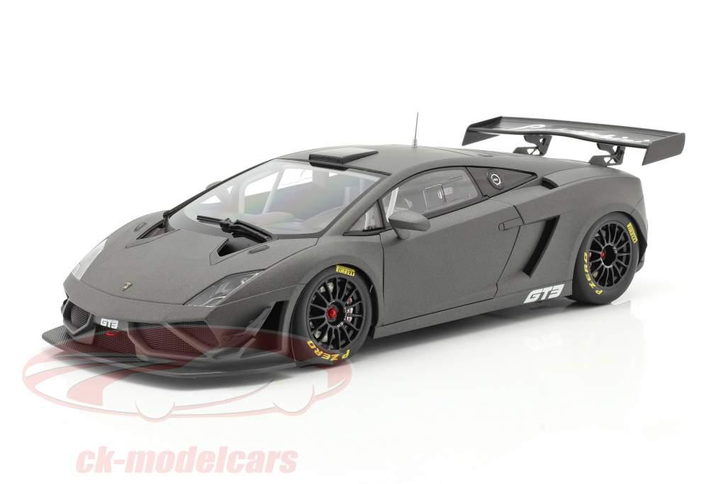 Lamborghini Gallardo GT3 FL2 Año de construcción 2013 estera gris 1:18 AUTOart