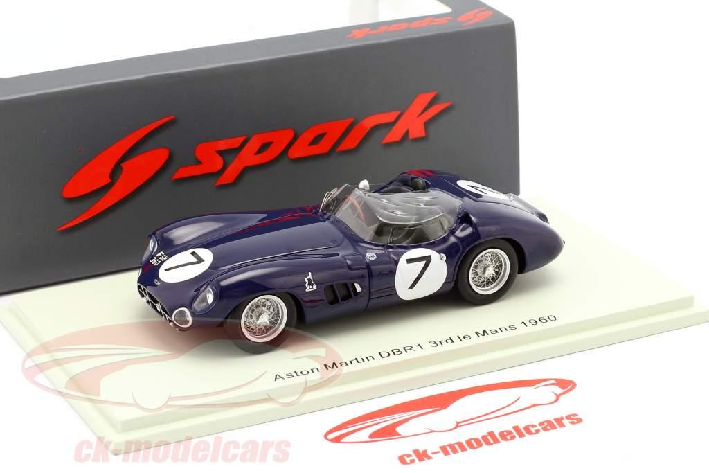Aston Martin DBR1//300 #7 3 ° 24h LeMans 1960 Clark, Salvadori 1:43 Spark