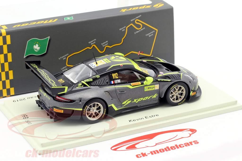 Porsche 911 GT3 R #912 FIA GT World Cup Macau 2019 Kevin Estre 1:43 Spark